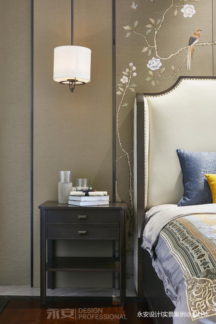 600㎡ 新中式别墅卧室吊灯图