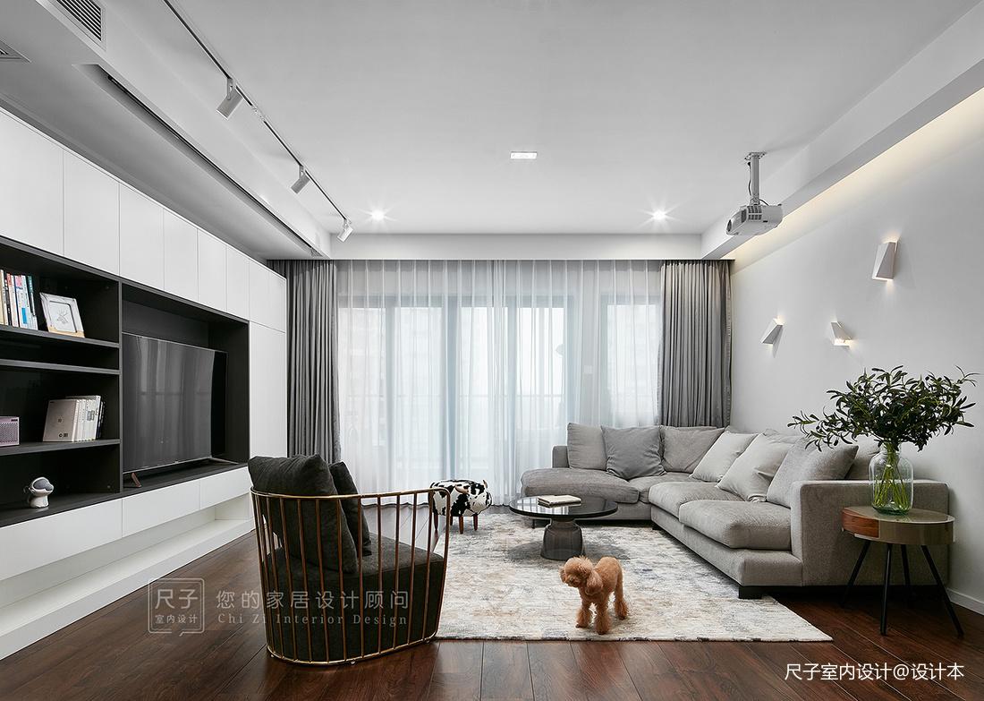 现代风小复式客厅设计图