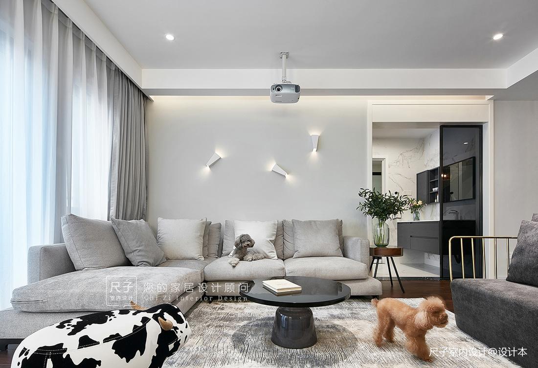 现代风小复式客厅沙发图片