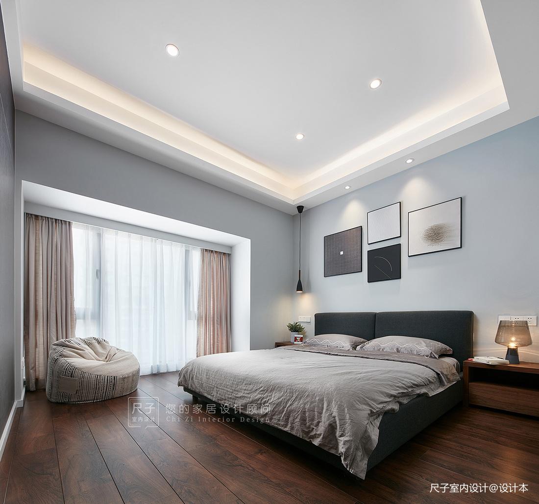 现代风小复式主卧室设计图