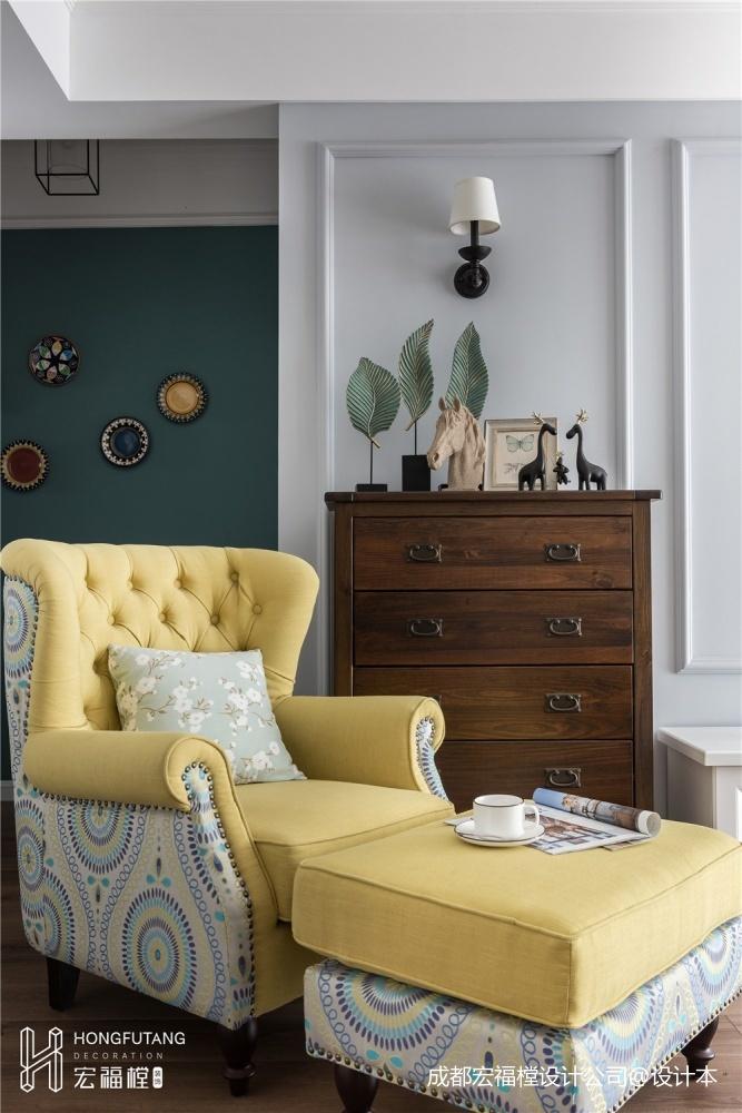 繁簡美式客廳儲物柜設計圖