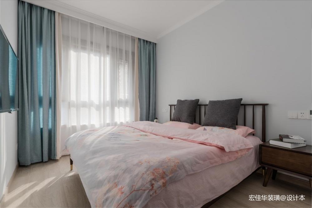小资现代风卧室实景图片