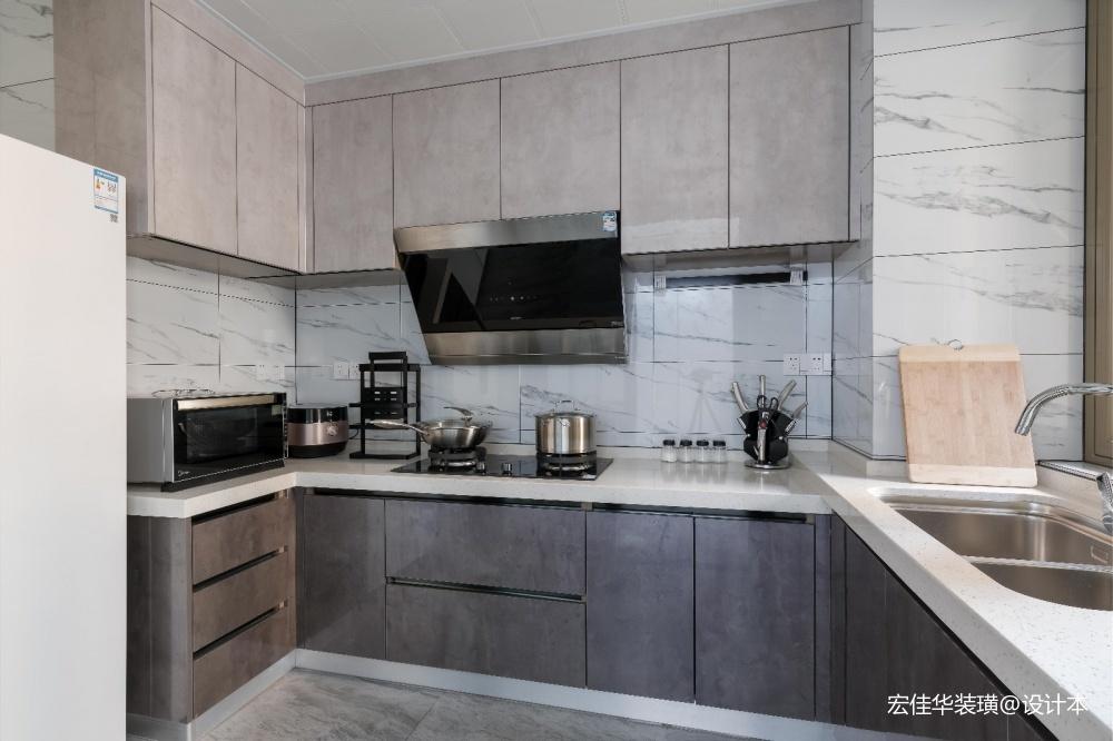 小资现代风厨房实景图片