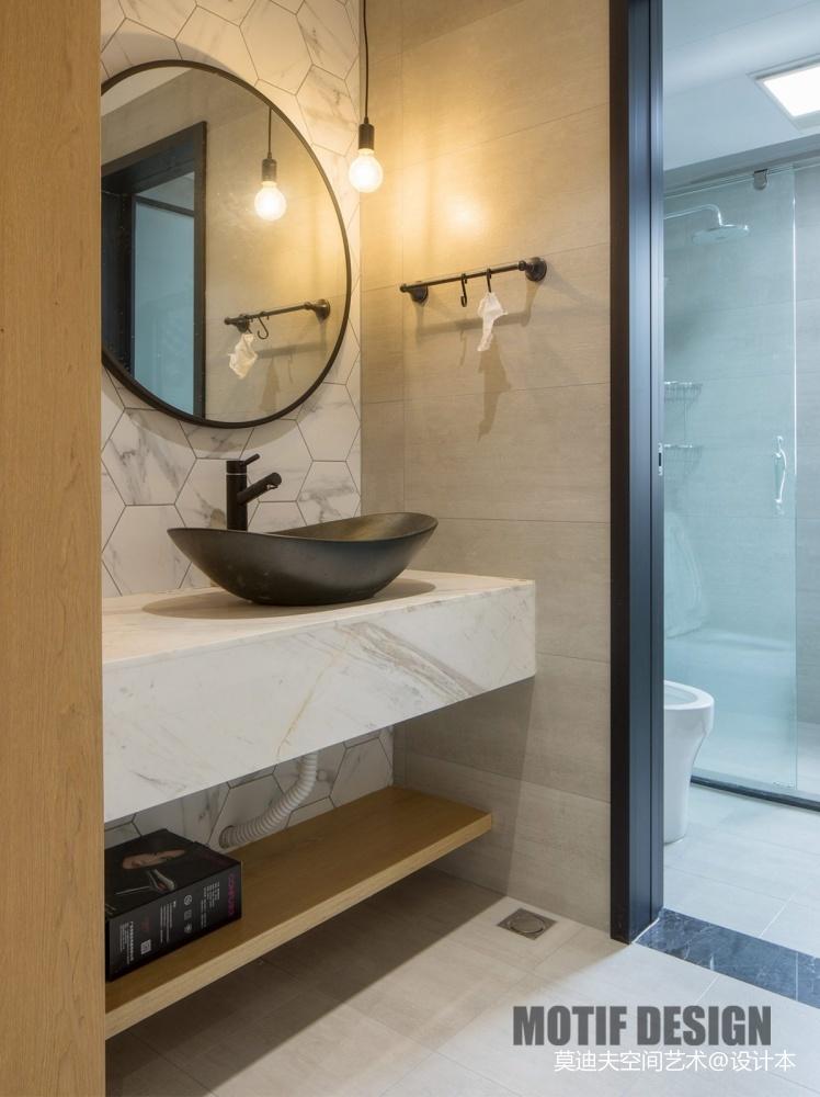 时尚北欧风卫浴洗手台设计