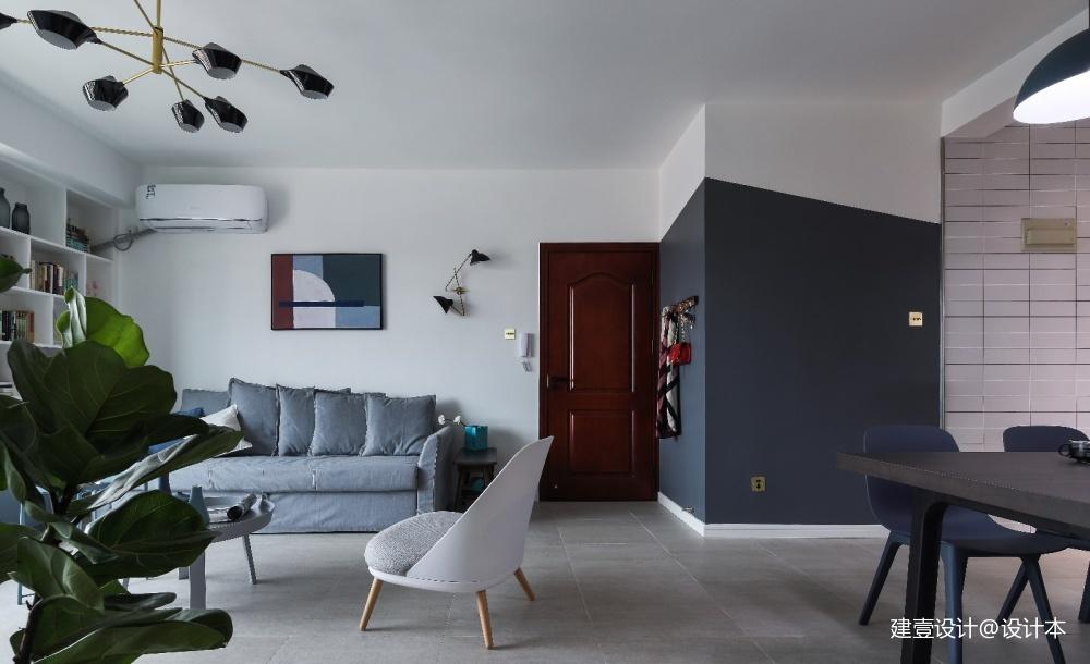 《清风 微蓝》北欧风客厅设计