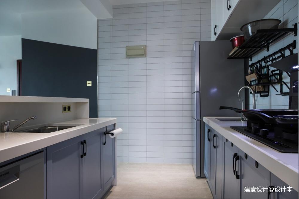 《清风 微蓝》北欧风厨房设计图