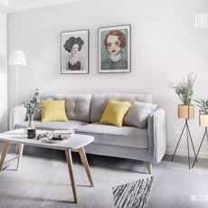 75㎡北欧客厅设计图