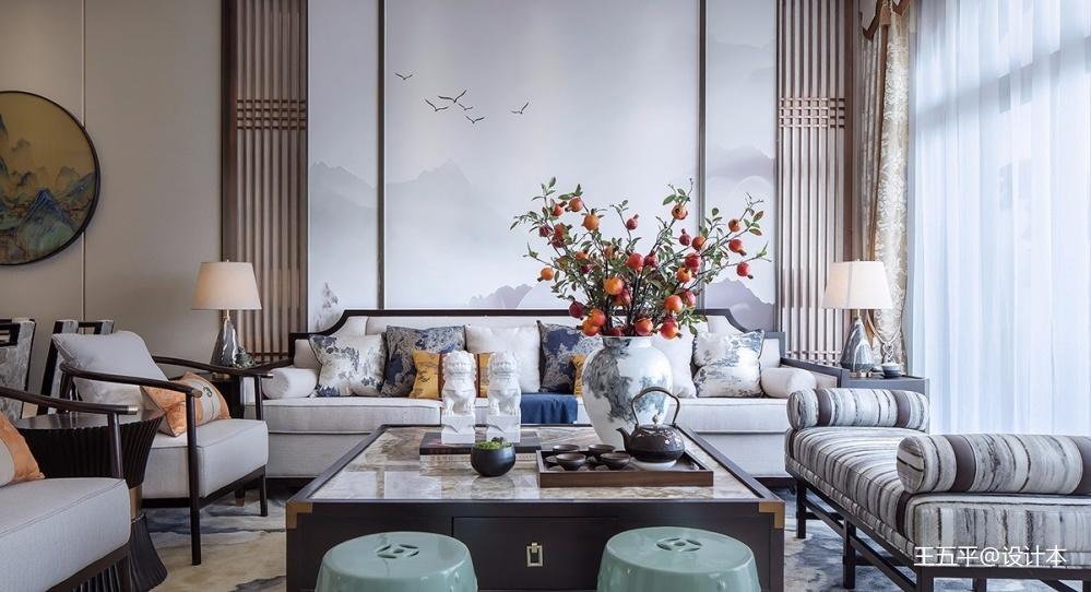 雅奢东方中式客厅沙发图