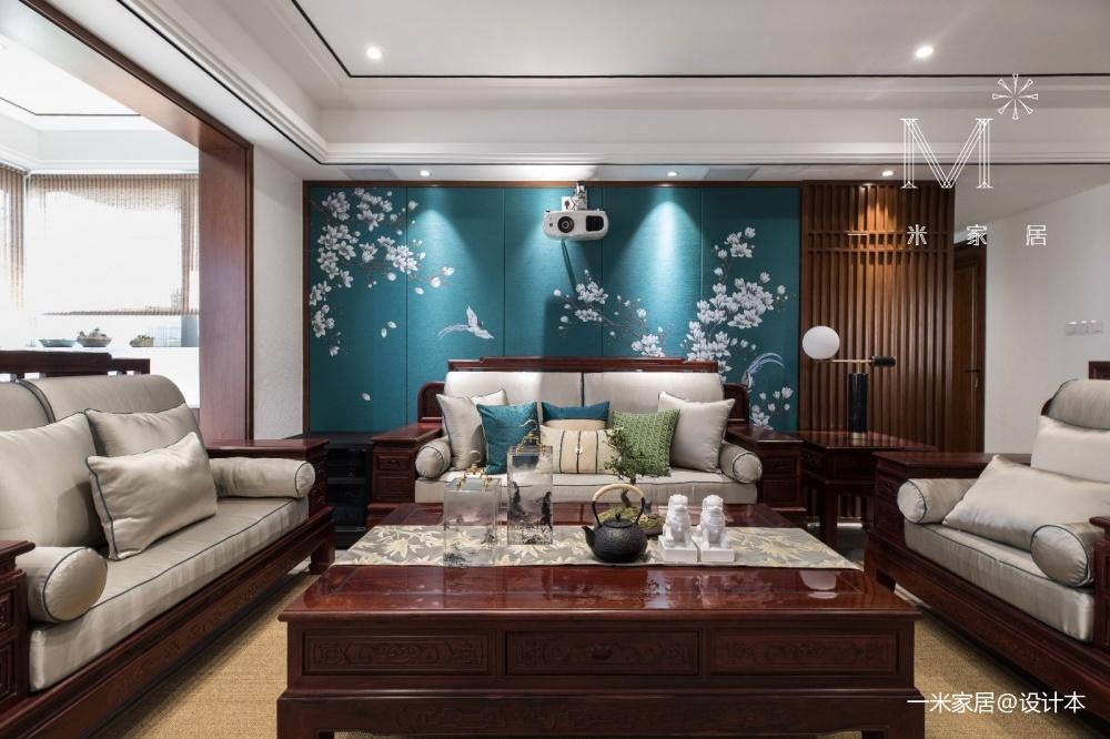140㎡優雅中式客廳沙發圖片
