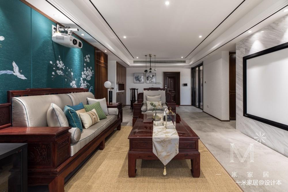 140㎡优雅中式客厅图片