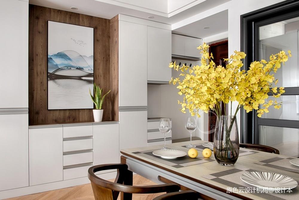 金科天宸现代风餐厅储物柜设计