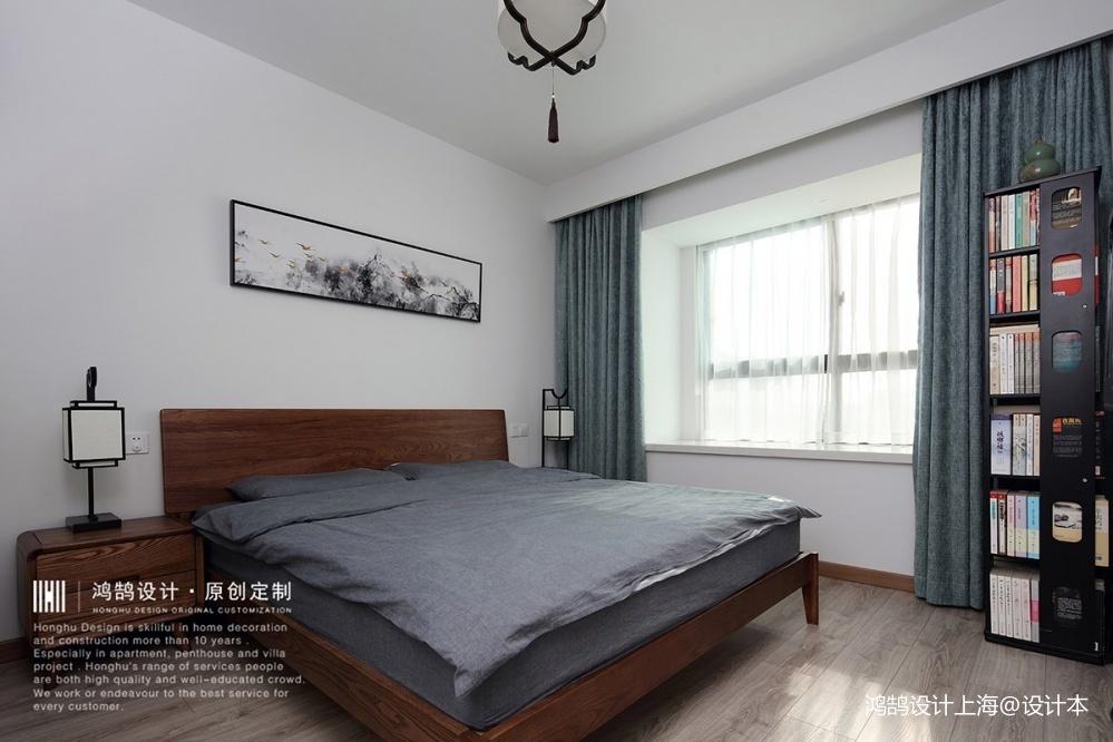 中式现代次卧实景图片
