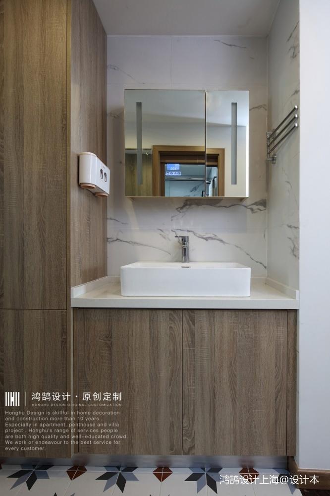 中式现代洗手台实景图片