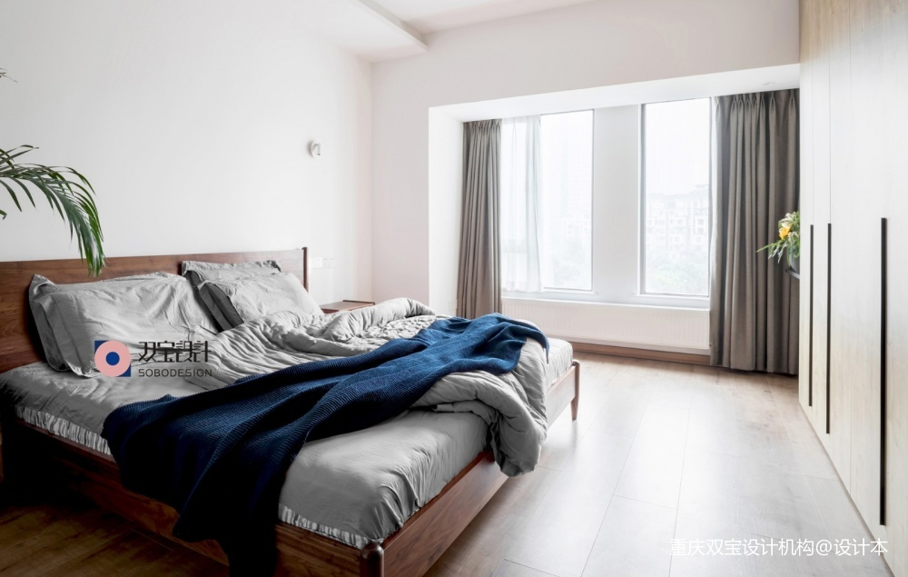自然混搭风卧室实景图片