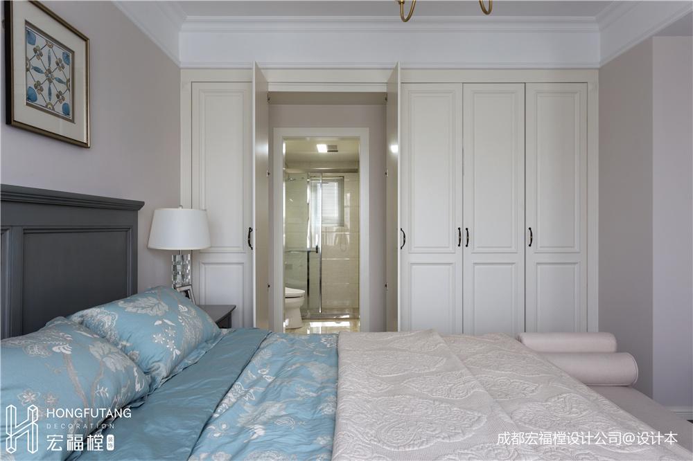 柔软美式卧室衣柜设计