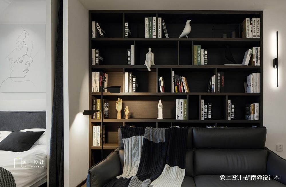 淺色系簡約風書房書柜設計