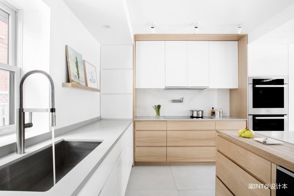 美国单身公寓厨房装修效果图