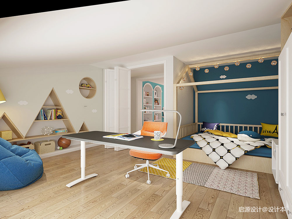 现代美式+北欧风情——温馨舒压的居住空间_3613102