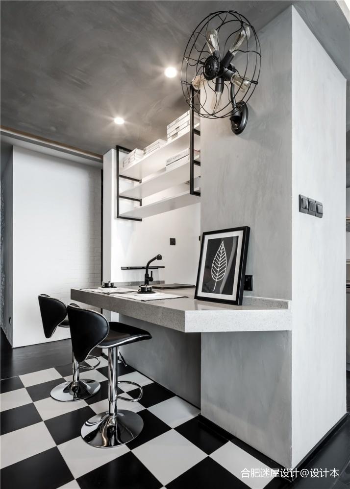 北京68㎡黑白灰工业风小户型设计,超实用_3634386