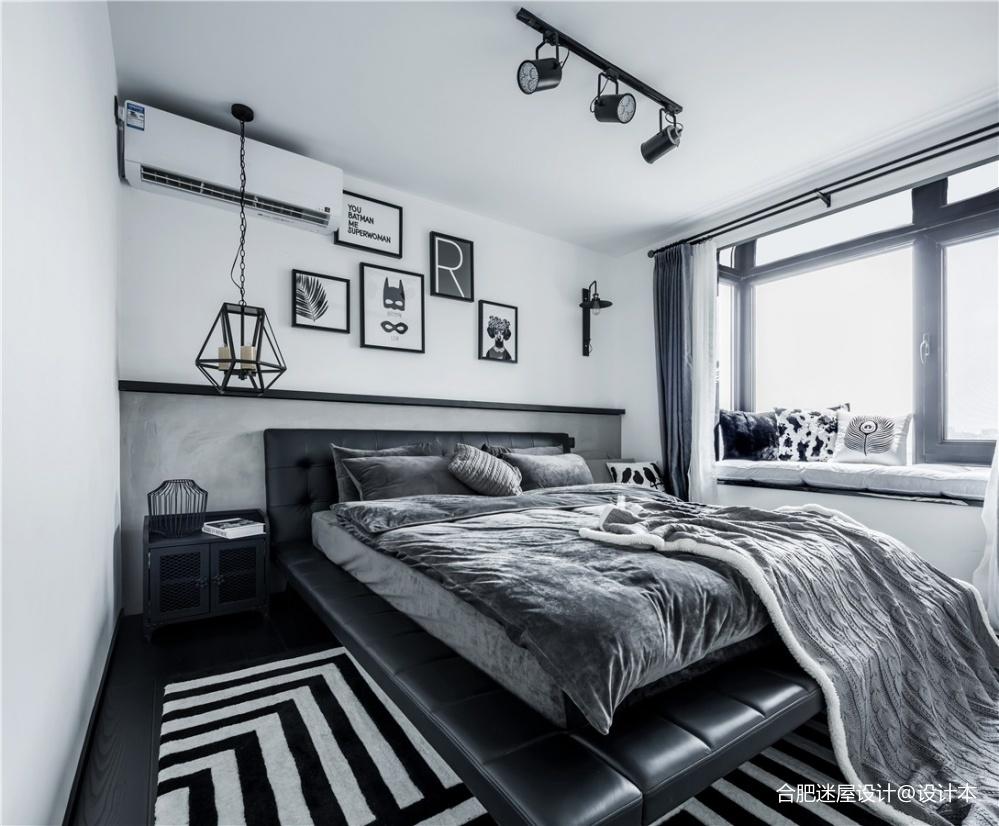北京68㎡黑白灰工业风小户型设计,超实用_3634403