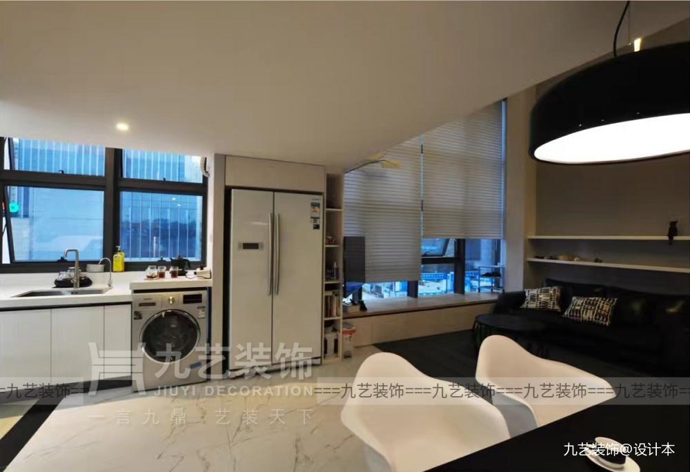 Loft理想生活,廣州45㎡黑白個性空間_3653751