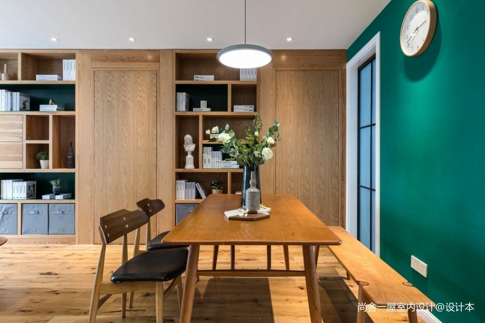 老师的家 | 全面墙书柜客厅+隐形门设计_3752553