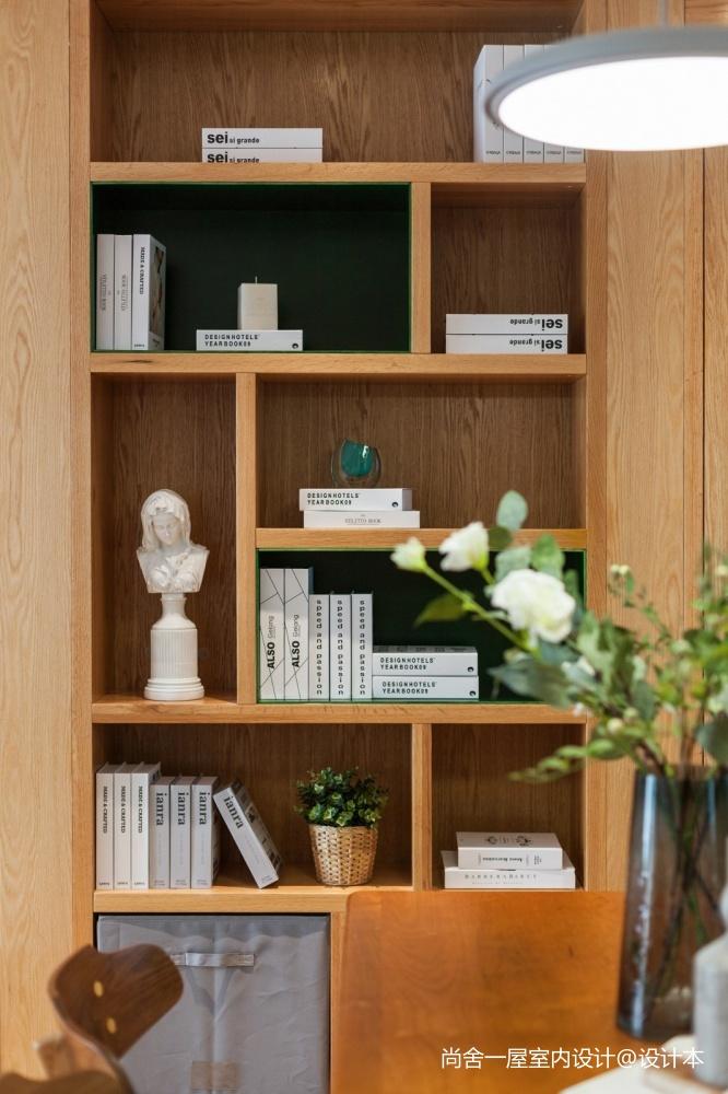 老师的家 | 全面墙书柜客厅+隐形门设计_3752555