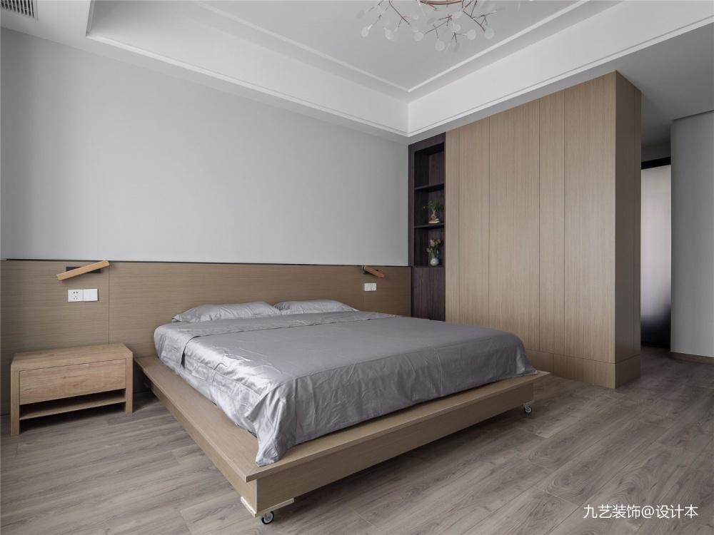 沐光丨广州180m²黑白灰原木色简约风格_3850431