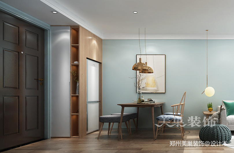 郑州蓝山溪语89平2+1户型装修北欧风格_3851054
