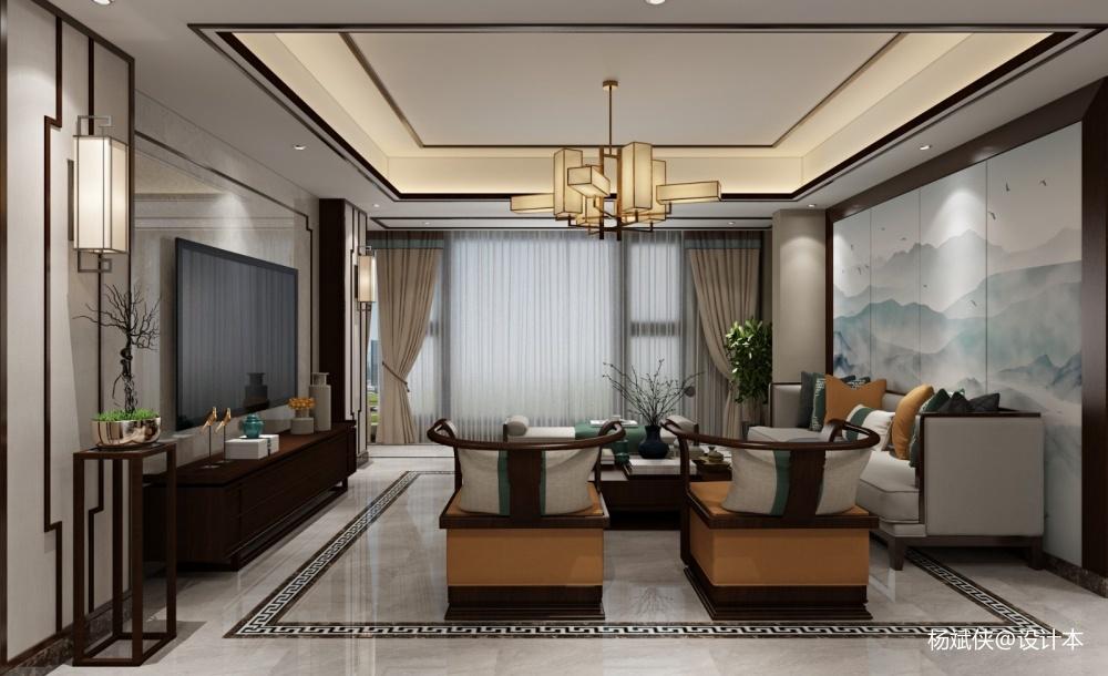 吉首溶江小区新中式全案整装设计施工_3852518