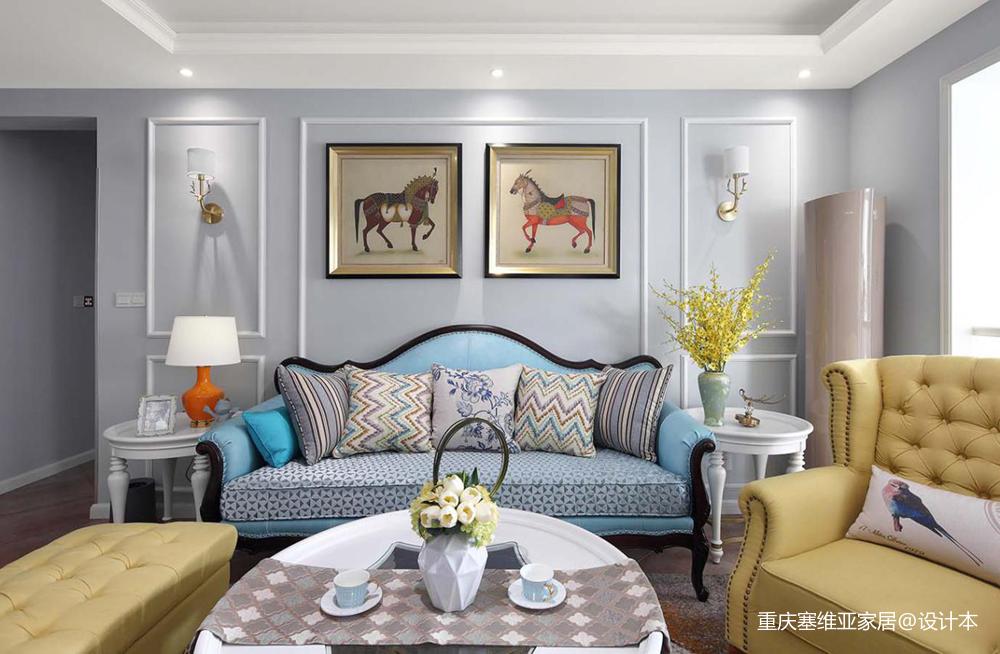 重庆龙湖春森彼岸两居美式设计案例-塞维亚_3857888