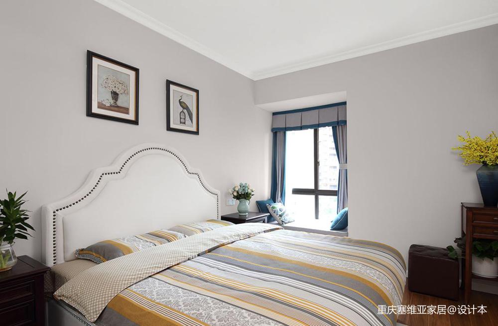 重庆龙湖春森彼岸两居美式设计案例-塞维亚_3857891