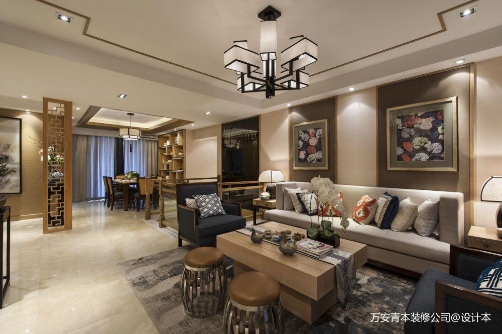 萬安縣影視城頂級全紅木中式古典裝修設計_3864367