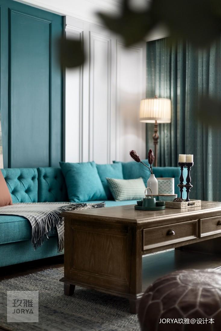 美式厚重与中式古朴混搭,呈现温文尔雅的家_3903622