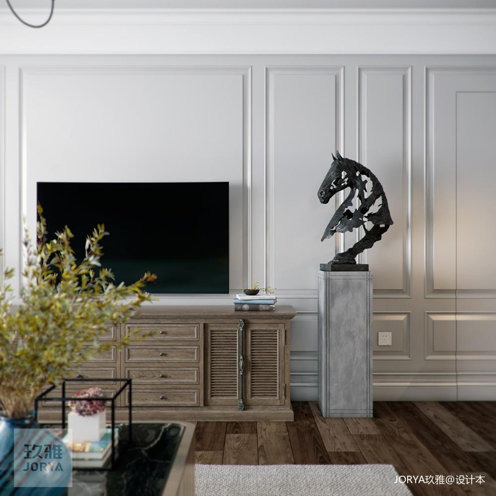 美式厚重与中式古朴混搭,呈现温文尔雅的家_3903650