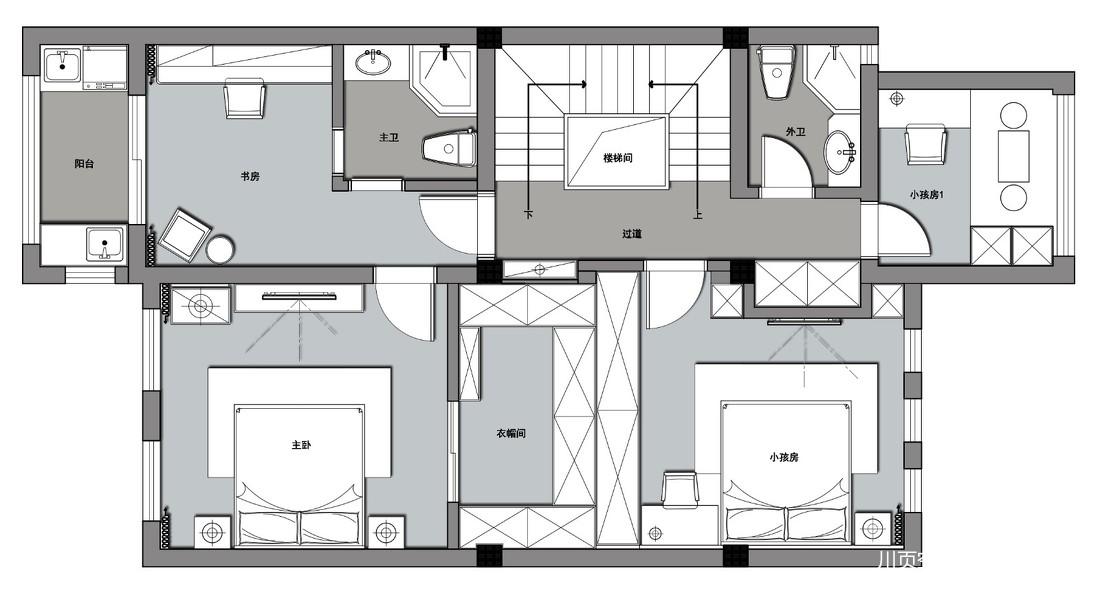 一套房子三種格調,中式別墅為愛融合!_3935462