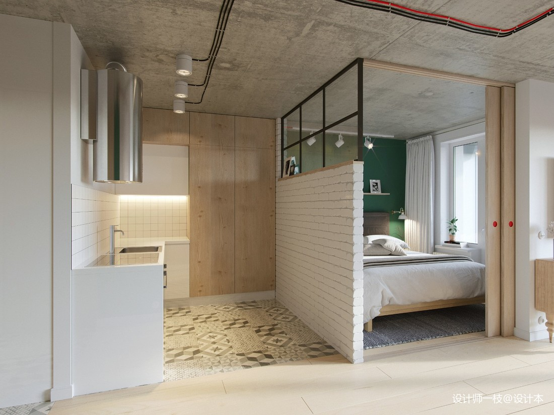 50㎡單身公寓設計,一居室這樣設計剛剛好_4061209