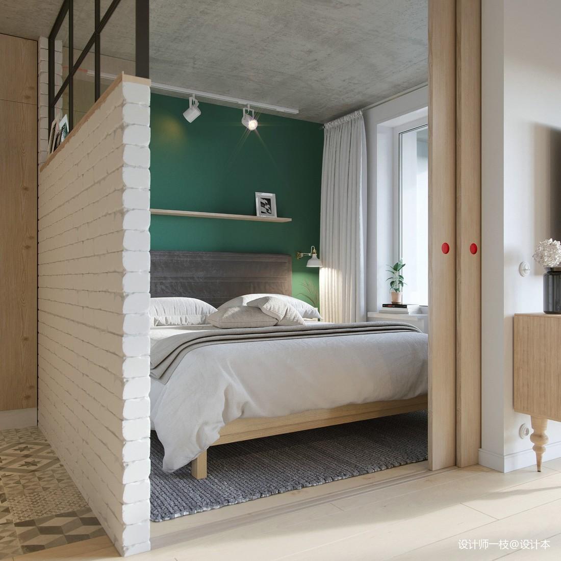 50㎡單身公寓設計,一居室這樣設計剛剛好_4061211