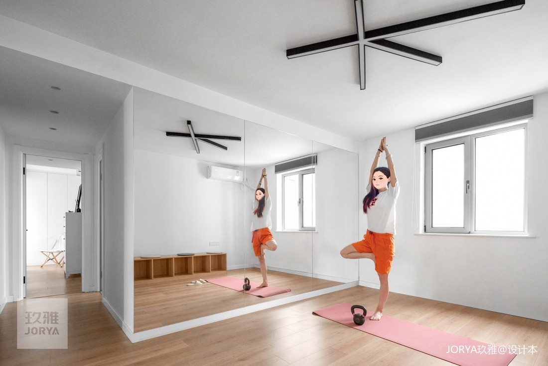 長走廊正解:打造開闊健身房,帶娃健身兩用_1597224706_4231105