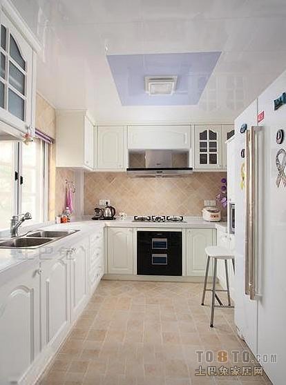地中海开放式厨房装修效果图