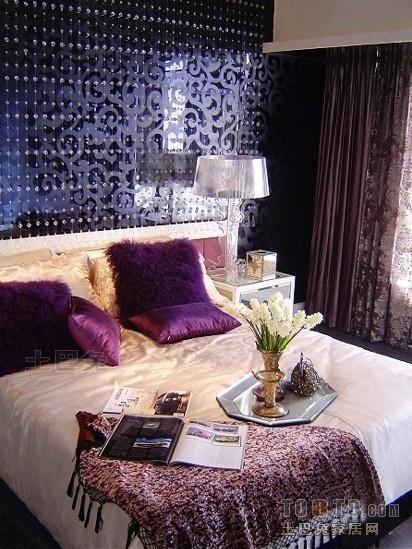 欧式风格卧室背景墙装修图片