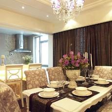 精美105平方三居餐厅混搭实景图片欣赏