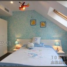 双人儿童房高低床效果图