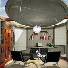 现代美式风格书房设计大全欣赏