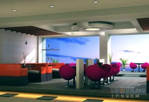 后现代风格loft公寓室内餐厅效果图片