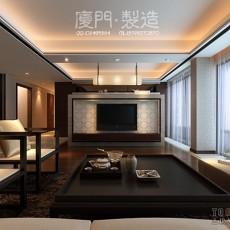 简约美式客厅装修效果图大全2013图片欣赏