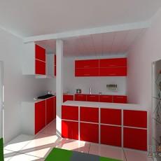 欧式整体厨房装修效果图