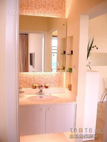 简约小户型卫浴洁具图片