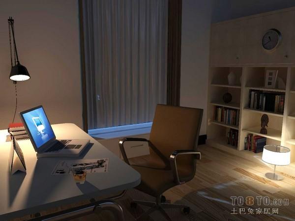 创意现代书房装饰效果图