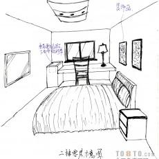 别墅主卧室带阳台装修效果图